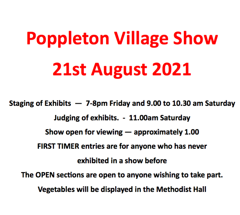 Poppleton Village Show